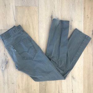 Levi's Gray Chino Skinny Pants
